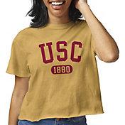 League-Legacy Women's USC Trojans Gold Clothesline Cotton Cropped T-Shirt