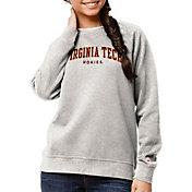 League-Legacy Women's Virginia Tech Hokies Oatmeal Academy Crew Sweatshirt