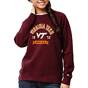 League-Legacy Women's Virginia Tech Hokies Maroon Academy Crew Sweatshirt