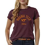 League-Legacy Women's Virginia Tech Hokies Maroon ReSpin T-Shirt