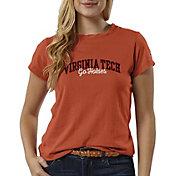 League-Legacy Women's Virginia Tech Hokies Burnt Orange ReSpin T-Shirt