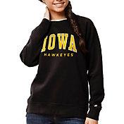 League-Legacy Women's Iowa Hawkeyes Academy Crew Black Sweatshirt
