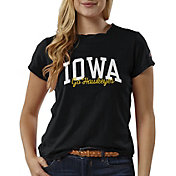 League-Legacy Women's Iowa Hawkeyes ReSpin Black T-Shirt