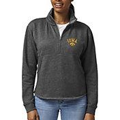 League-Legacy Women's Iowa Hawkeyes Black Victory Springs Quarter-Zip Shirt