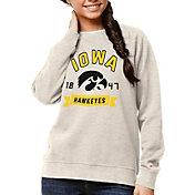 League-Legacy Women's Iowa Hawkeyes Oatmeal Academy Crew Sweatshirt