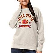 League-Legacy Women's Iowa State Cyclones Oatmeal Academy Crew Sweatshirt