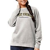 League-Legacy Women's West Virginia Mountaineers Oatmeal Academy Crew Sweatshirt