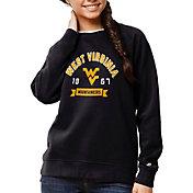 League-Legacy Women's West Virginia Mountaineers Blue Academy Crew Sweatshirt