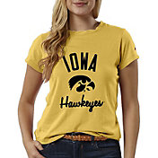 League-Legacy Women's Iowa Hawkeyes Gold ReSpin T-Shirt