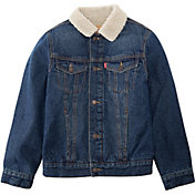 Levi's Boys' Sherpa Trim Denim Trucker Jacket