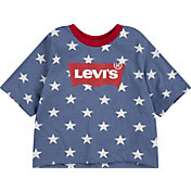 Levi's Girls' Batwing Logo Cropped T-Shirt