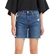 Levi's Women's 501 Original High-Rise Mid-Thigh Jeans Shorts