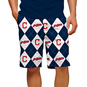 Loudmouth Golf Men's Cleveland Indians Navy Performance Golf Shorts