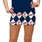 Loudmouth Golf Women's Cleveland Indians Navy Performance Golf Shorts