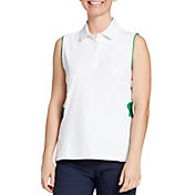 Lady Hagen Women's Green Sleeveless Golf Polo