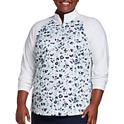Lady Hagen Women's Print ¼-Zip Golf Pullover – Extended Sizes