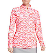 Lady Hagen Women's Print ¼-Zip Golf Pullover