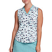 Lady Hagen Women's Sea Animal Print Sleeveless Golf Polo