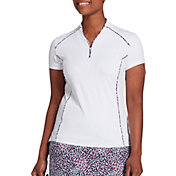 Lady Hagen Women's Sea Printed Piped Golf Polo