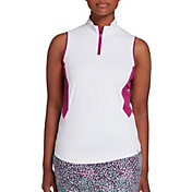 Lady Hagen Women's Sea Printed Sleeveless Golf Polo