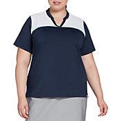 Lady Hagen Notch Neck Short Sleeve Golf Polo – Extended Sizes