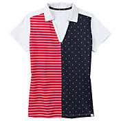 Lady Hagen Women's Stars and Stripes Golf Polo