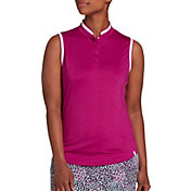 Lady Hagen Women's Sea Textured Sleeveless Golf Polo