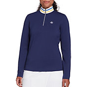 Lady Hagan Women's Toile Rib 1/4 Zip Pullover