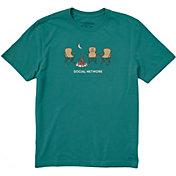 Life is Good Men's Social Network Camp Crusher T-Shirt