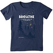 Life is Good Women's Breathe In The Stars Crusher T-Shirt