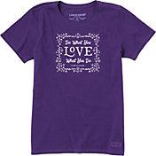 Life is Good Women's Floral DWYL Crusher T-Shirt
