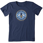 Life is Good Women's Give Bees A Chance Crusher T-Shirt