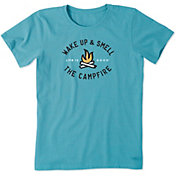 Life is Good Women's Smell The Campfire Crusher T-Shirt