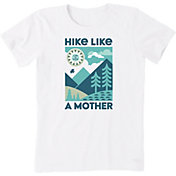 Life is Good Women's Hike Like A Mother Crusher T-Shirt