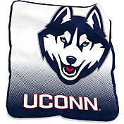Logo UConn Huskies Raschel Throw Blanket