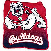 Logo Fresno State Bulldogs 50'' x 60'' Raschel Throw Blanket