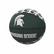 Michigan State Spartans Logo Mini Rubber Basketball