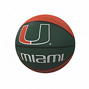 Miami Hurricanes Logo Mini Rubber Basketball