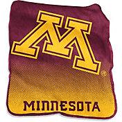 Logo Minnesota Golden Gophers Raschel Throw Blanket
