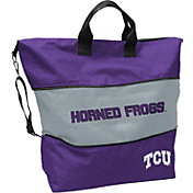 Logo TCU Horned Frogs Crosshatch Expandable Tote