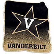 Logo Vanderbilt Commodores Raschel Throw Blanket