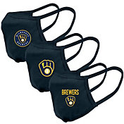 Levelwear Adult Milwaukee Brewers 3-Pack Face Coverings