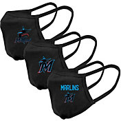 Levelwear Adult Miami Marlins 3-Pack Face Coverings