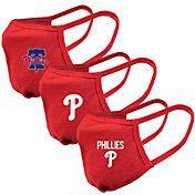 Levelwear Adult Philadelphia Phillies 3-Pack Face Coverings