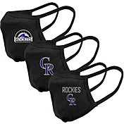 Levelwear Adult Colorado Rockies 3-Pack Face Coverings