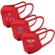 Levelwear Adult Boston Red Sox 3-Pack Face Coverings