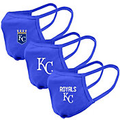 Levelwear Adult Kansas City Royals 3-Pack Face Coverings