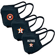 Levelwear Adult Houston Astros 3-Pack Face Masks