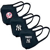 Levelwear Adult New York Yankees 3-Pack Face Coverings