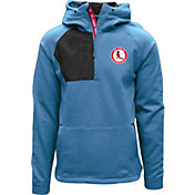 Levelwear Men's St. Louis Cardinals Blue Long Sleeve Quarter-Zip Pullover Hoodie